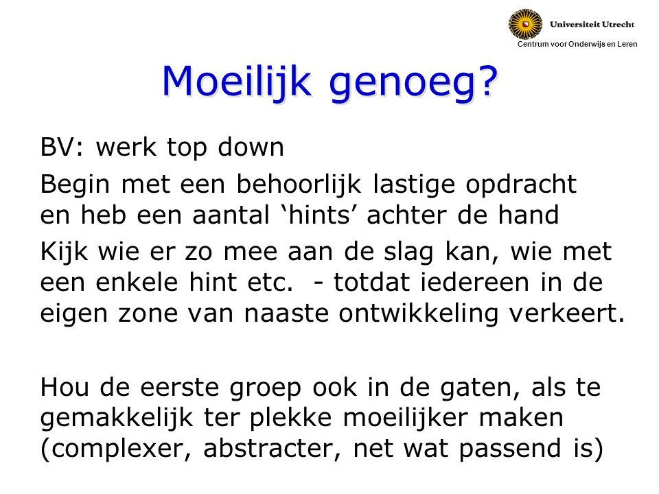 Centrum voor Onderwijs en Leren Moeilijk genoeg.