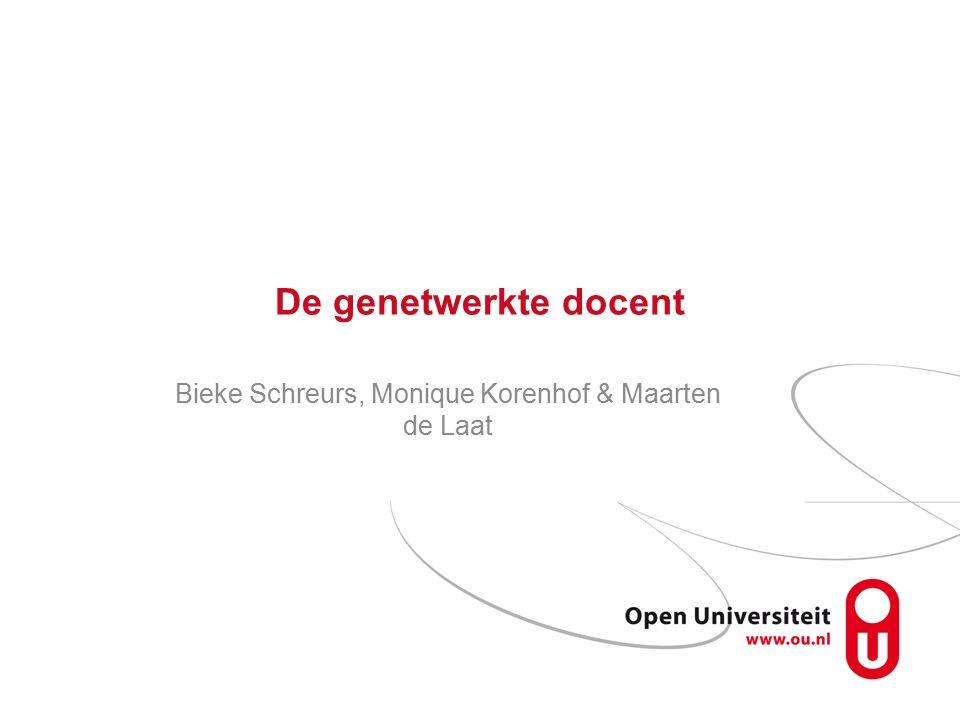 De genetwerkte docent Bieke Schreurs, Monique Korenhof & Maarten de Laat