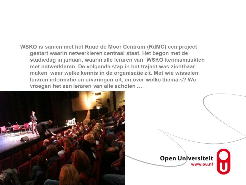 WSKO is samen met het Ruud de Moor Centrum (RdMC) een project gestart waarin netwerkleren centraal staat.