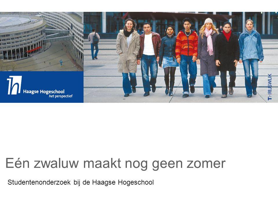 Studentenonderzoek bij de Haagse Hogeschool Eén zwaluw maakt nog geen zomer