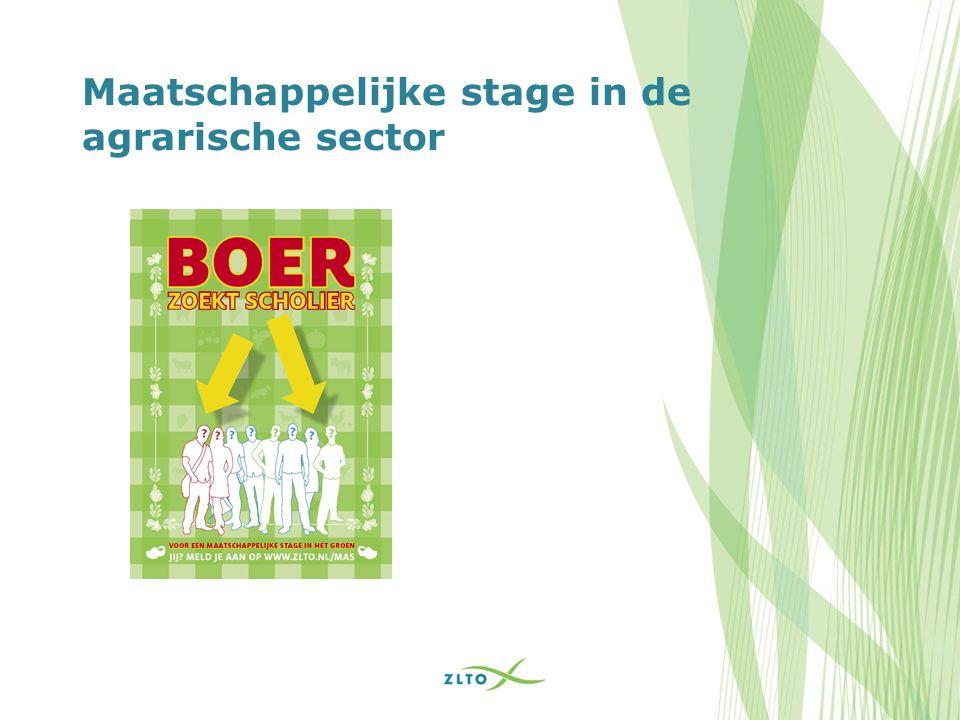 Maatschappelijke stage in de agrarische sector