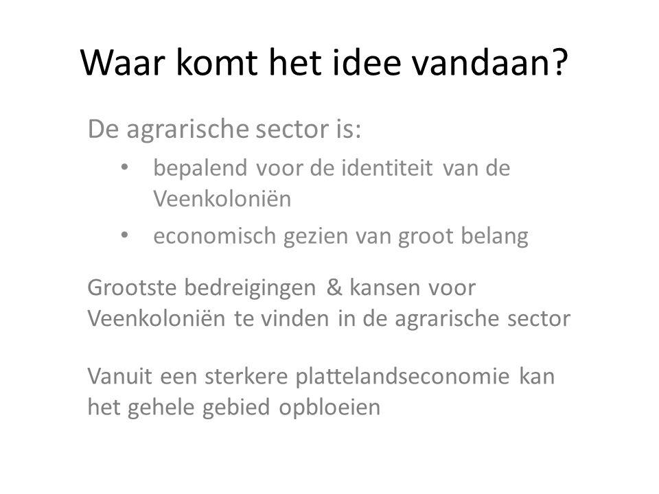 De strategie Samen met de lokale bevolking onderzoeken welke nieuwe kansen er zijn voor de agrarische sector in de Veenkoloniën Wij stellen voor daarbij gebruik te maken van de concepten uit de Bio Based Economy (BBE)