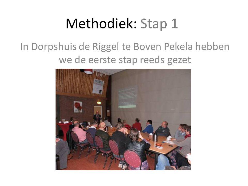 Methodiek: Stap 1 In Dorpshuis de Riggel te Boven Pekela hebben we de eerste stap reeds gezet