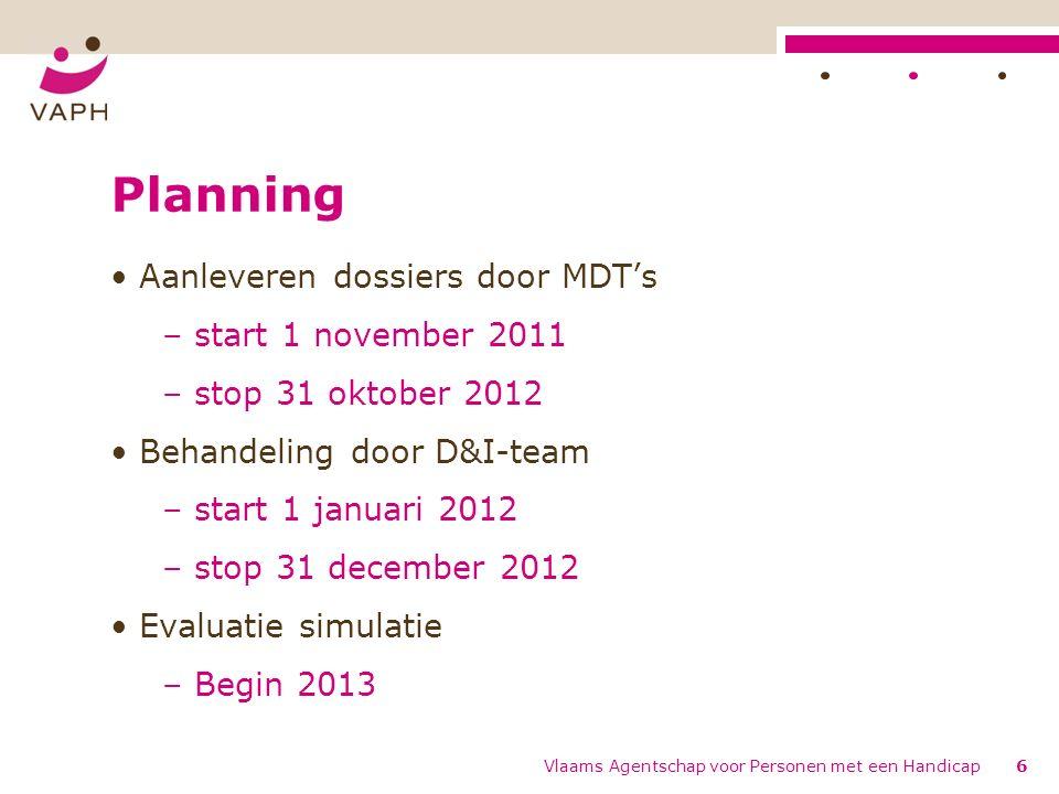 Vlaams Agentschap voor Personen met een Handicap7 Taken MDT i.h.k.v.