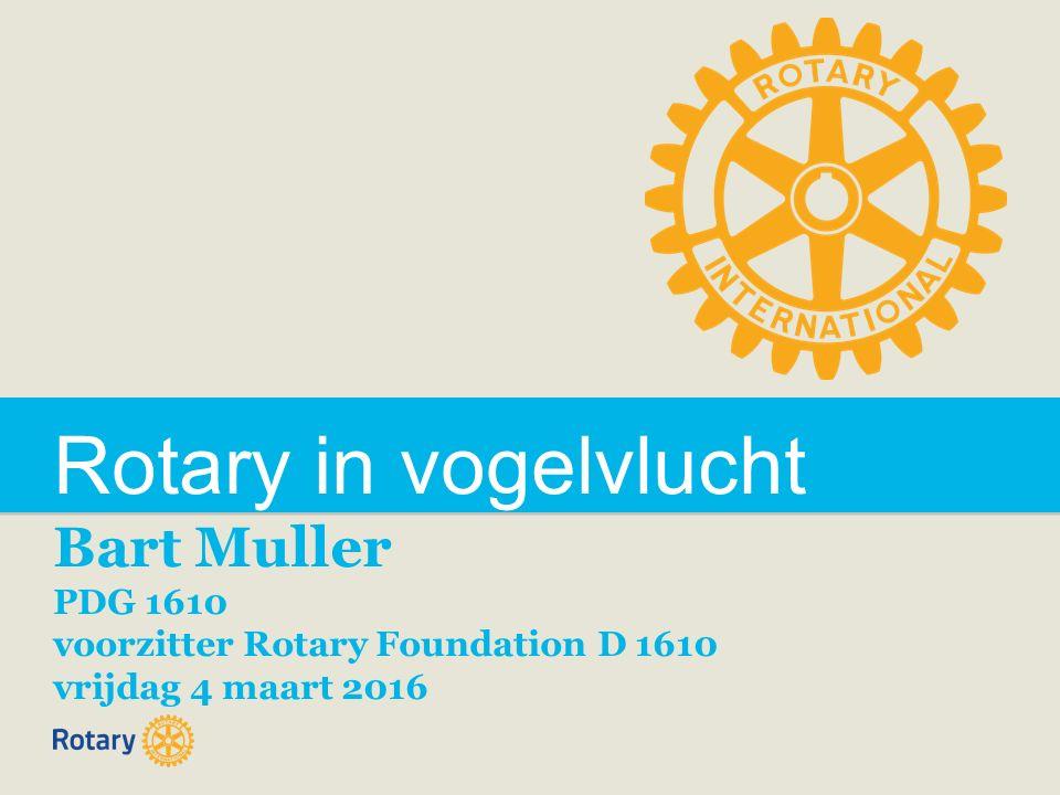 Rotary in vogelvlucht Bart Muller PDG 1610 voorzitter Rotary Foundation D 1610 vrijdag 4 maart 2016