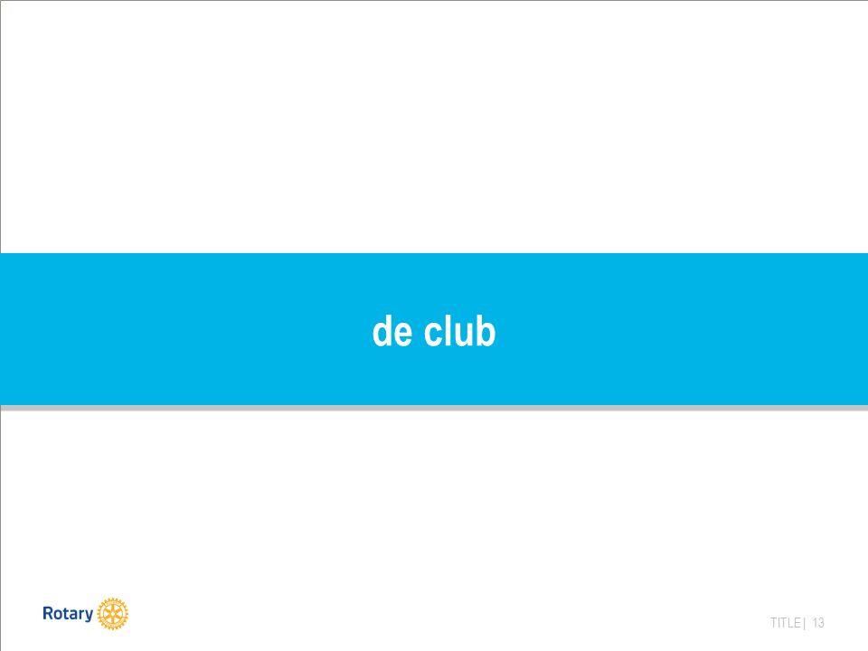TITLE | 13 de club