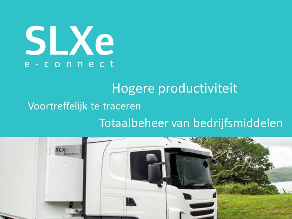 Hogere productiviteit Voortreffelijk te traceren Totaalbeheer van bedrijfsmiddelen e-connect