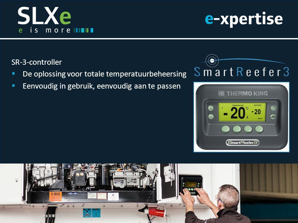 SR-3-controller  De oplossing voor totale temperatuurbeheersing  Eenvoudig in gebruik, eenvoudig aan te passen