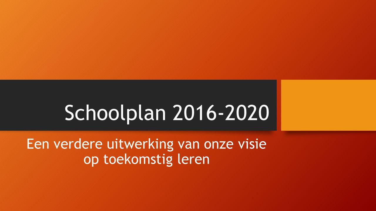 Schoolplan 2016-2020 Een verdere uitwerking van onze visie op toekomstig leren
