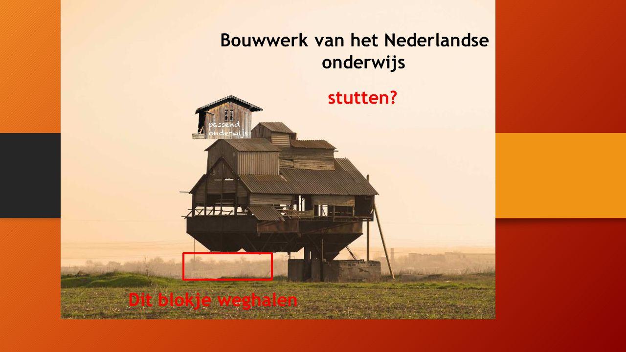 Bouwwerk van het Nederlandse onderwijs stutten? Dit blokje weghalen