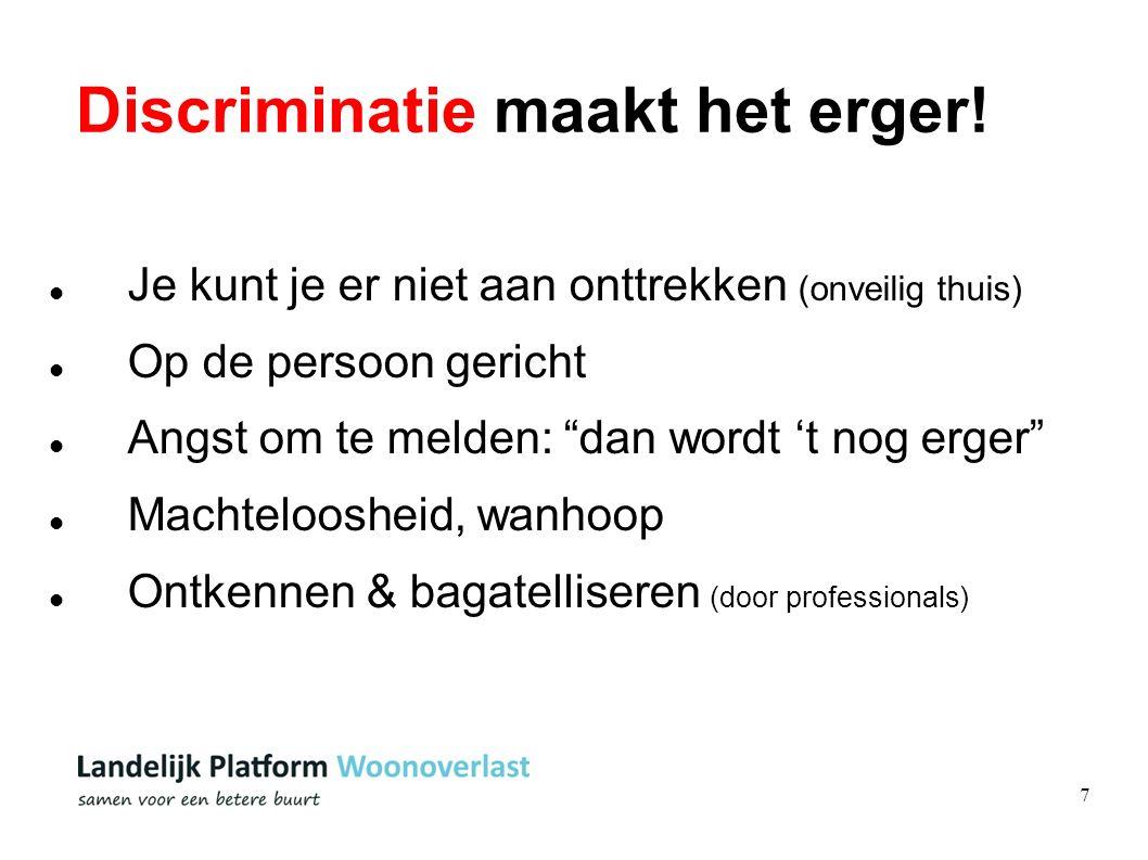 7 Discriminatie maakt het erger.