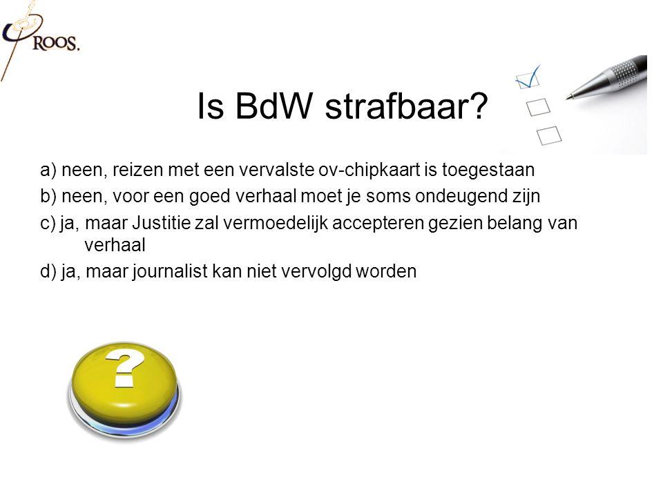 Is BdW strafbaar.