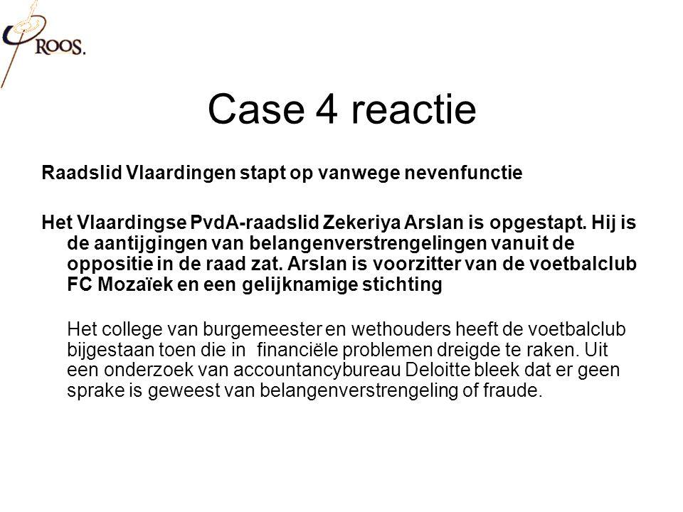 Case 4 reactie Raadslid Vlaardingen stapt op vanwege nevenfunctie Het Vlaardingse PvdA-raadslid Zekeriya Arslan is opgestapt.