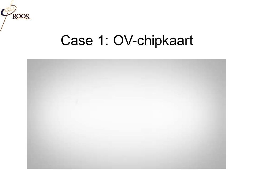 Case 1: OV-chipkaart