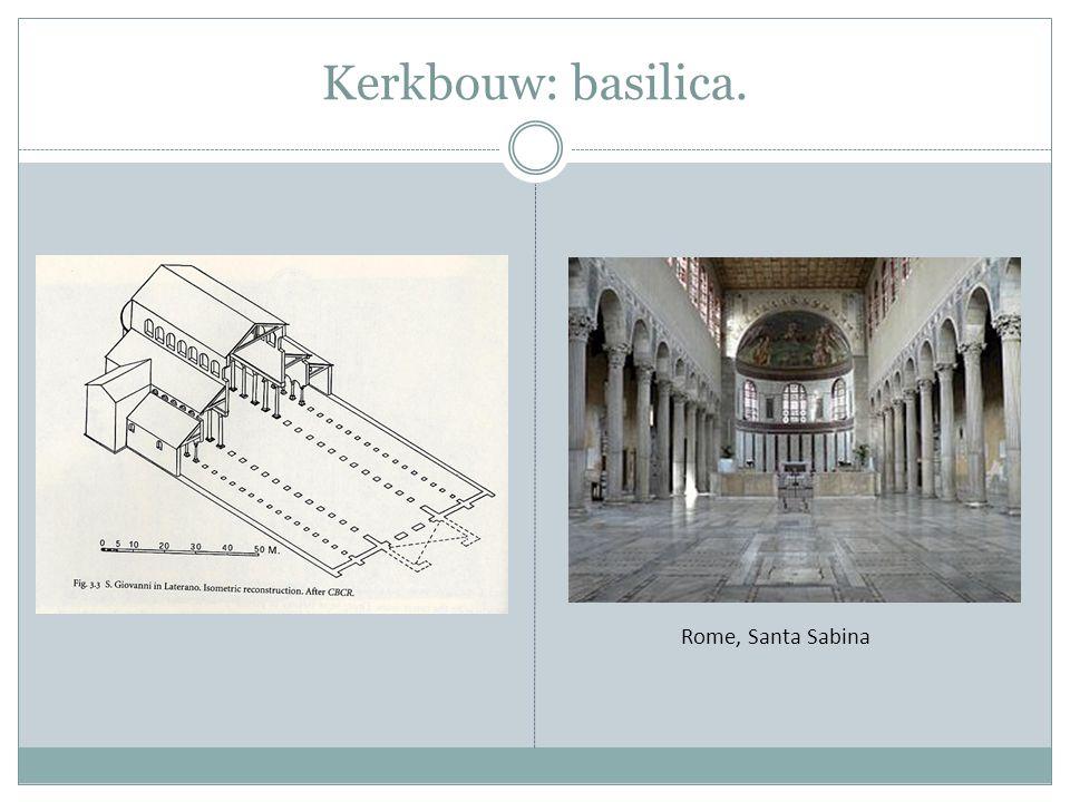 Kerkbouw: basilica. Rome, Santa Sabina