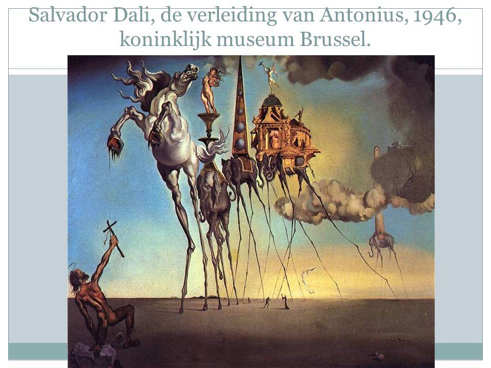 Salvador Dali, de verleiding van Antonius, 1946, koninklijk museum Brussel.