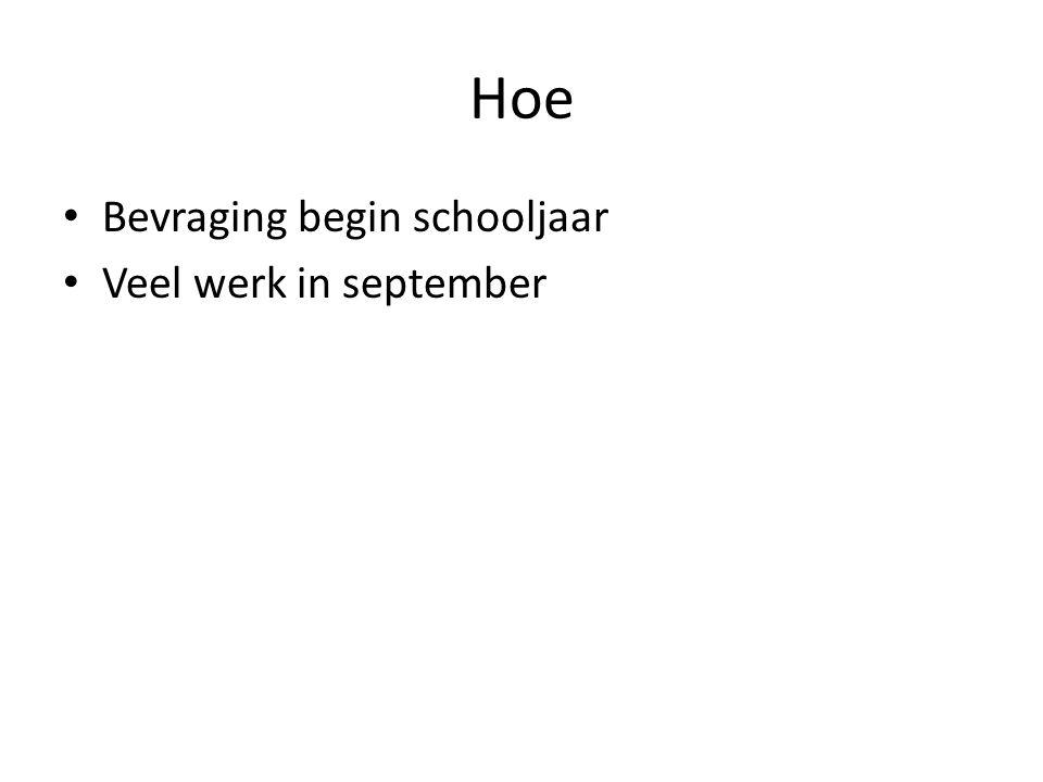 Hoe Bevraging begin schooljaar Veel werk in september