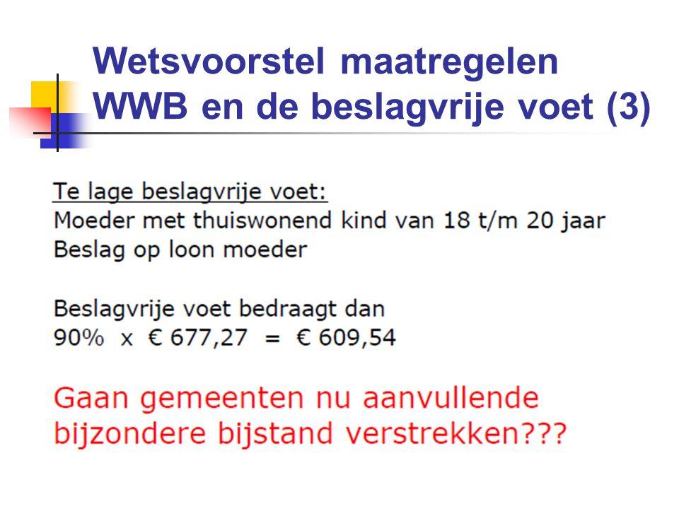 Wetsvoorstel maatregelen WWB en de beslagvrije voet (3)