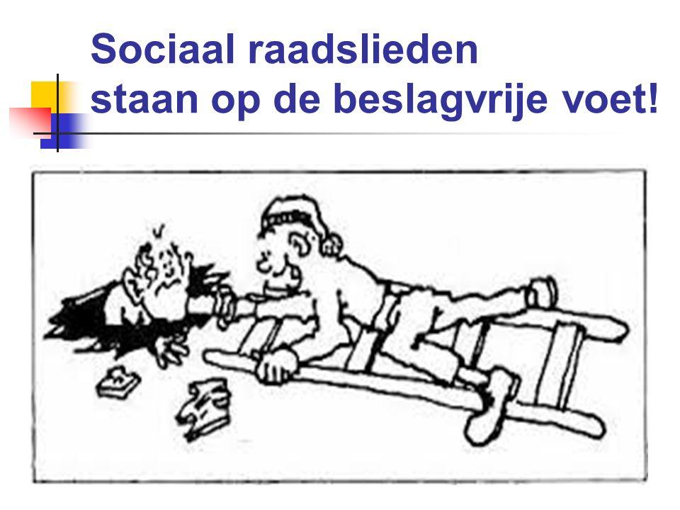 Sociaal raadslieden staan op de beslagvrije voet!