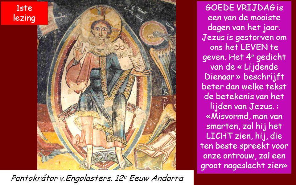 Goede Vrijdag Passie van de Heer Goede Vrijdag Passie van de Heer Intocht van Jezus in Jeruzalem. Retabel 12 e E. Sint Andreu v. Sagàs. Catalonië. Muz