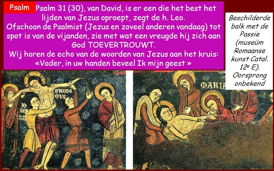 Arrestatie van Jezus en Kruisafneming. 12 e E. (Sagàs) Jes 52,13-53,12 Zie mijn dienaar zal succesvol handelen, hij zal worden verhoogd en verheven en