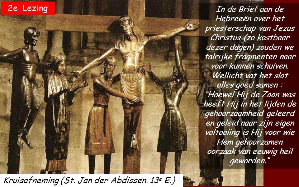 Laat over uw dienaar uw Aanschijn stralen, red mij door uw genade. Schept moed en weest onverschrokken gij allen die hoopt op de Heer. Majesteit van E