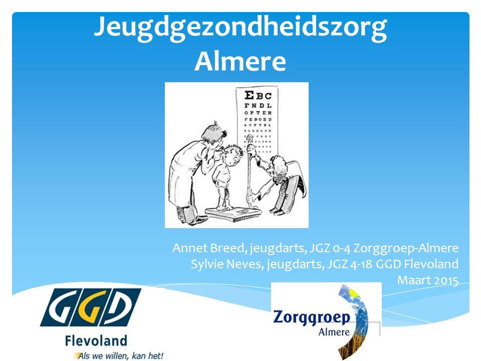 Jeugdgezondheidszorg Almere Annet Breed, jeugdarts, JGZ 0-4 Zorggroep-Almere Sylvie Neves, jeugdarts, JGZ 4-18 GGD Flevoland Maart 2015