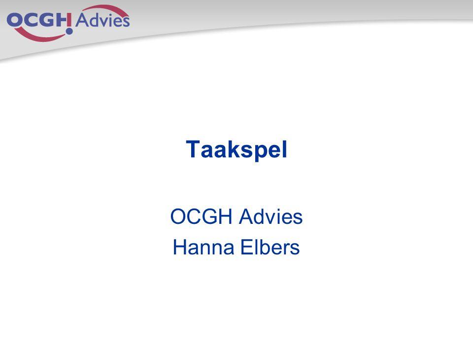 Taakspel OCGH Advies Hanna Elbers