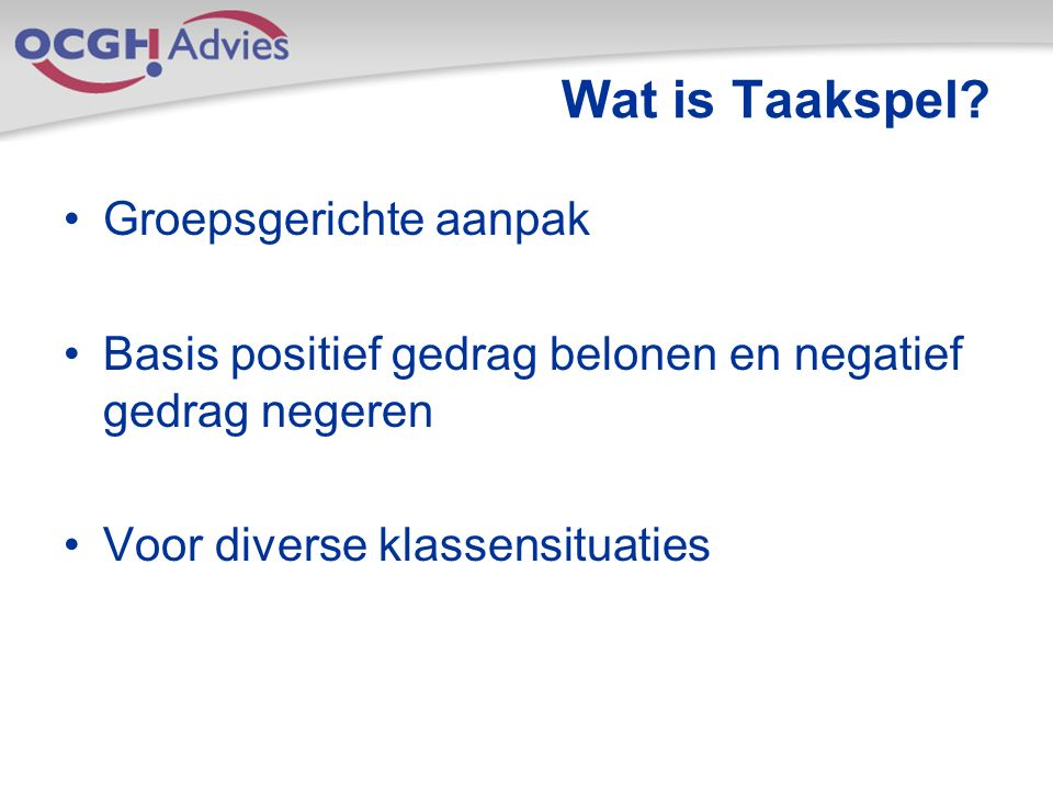 Wat is Taakspel.