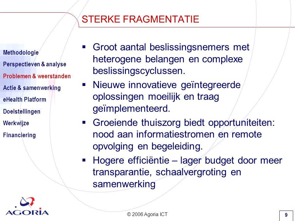 © 2006 Agoria ICT 9  Groot aantal beslissingsnemers met heterogene belangen en complexe beslissingscyclussen.