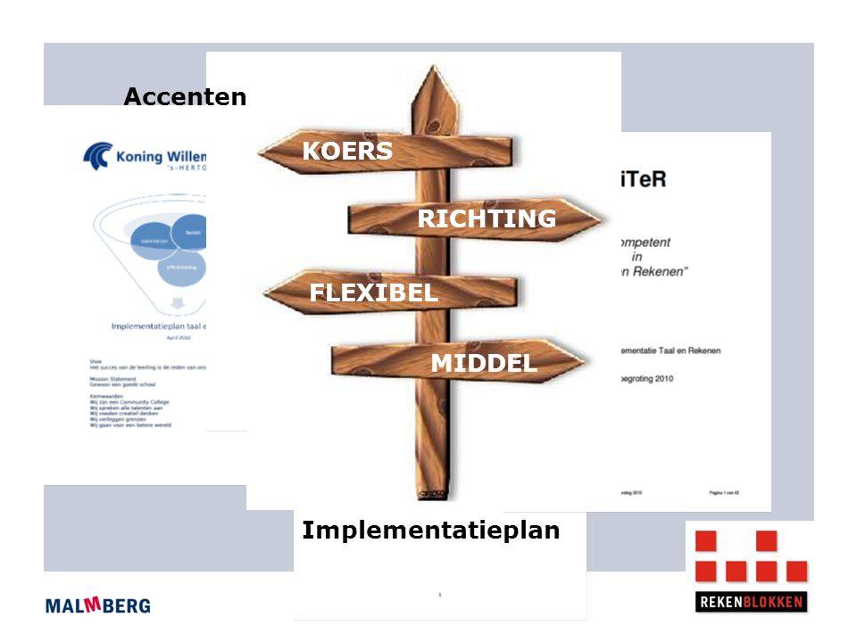 Implementatieplan Accenten KOERS RICHTING FLEXIBEL MIDDEL