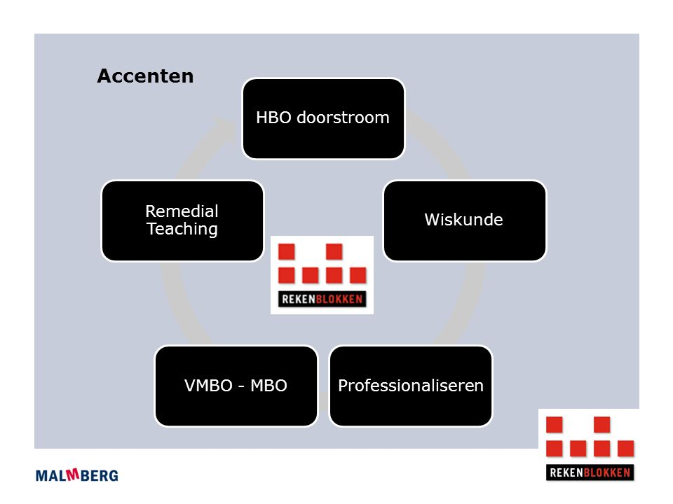 Accenten HBO doorstroomWiskundeProfessionaliserenVMBO - MBO Remedial Teaching