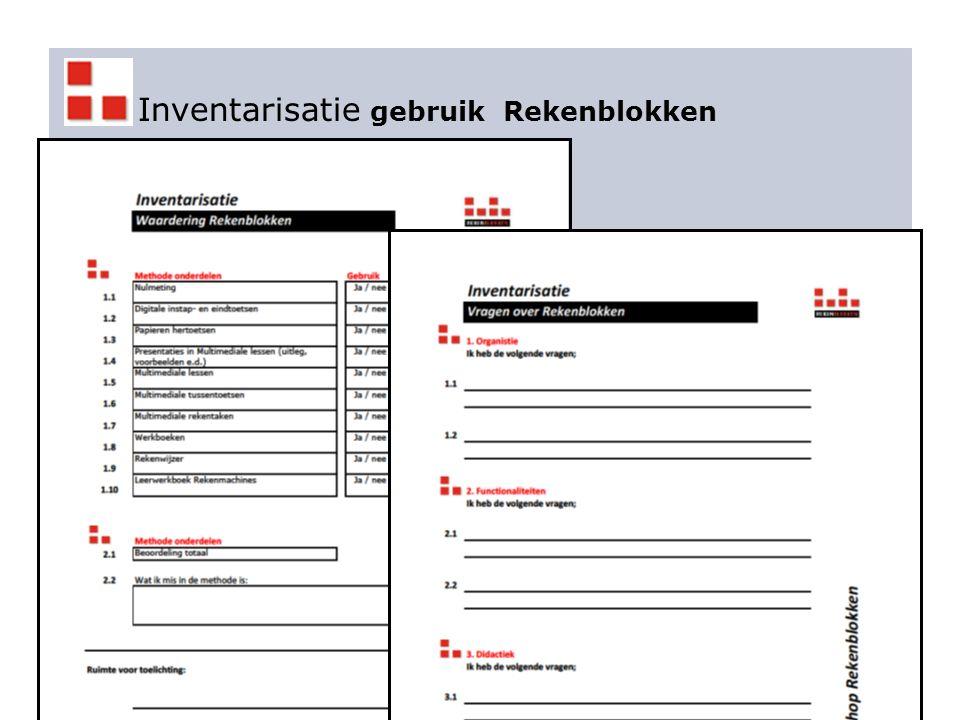 Inventarisatie gebruik Rekenblokken