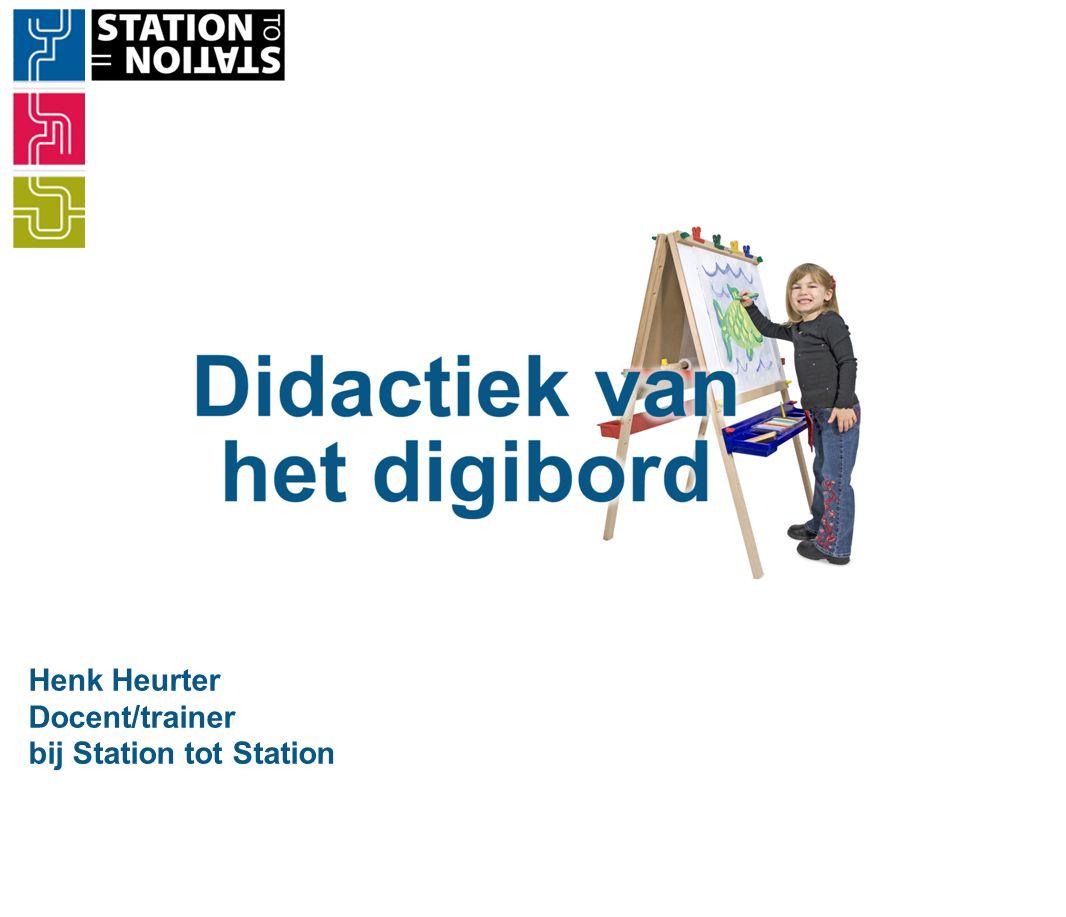 Station to Station Didactiek gaat over: ·overbrengen kennis, vaardigheden en attitudes ·motiveren van leerlingen ·lesopbouw ·evalueren ·optimale inzet media ·activerende verwerkingsvormen