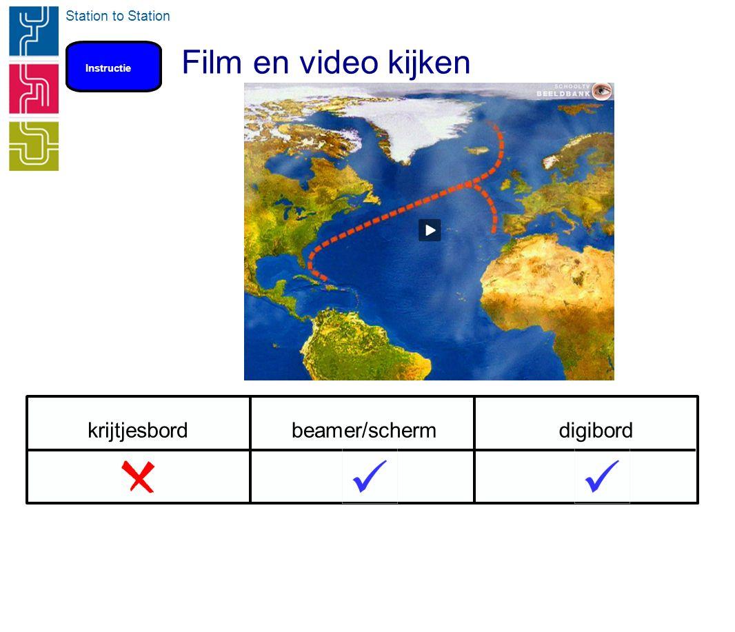 Station to Station Film en video kijken Instructie krijtjesbordbeamer/schermdigibord