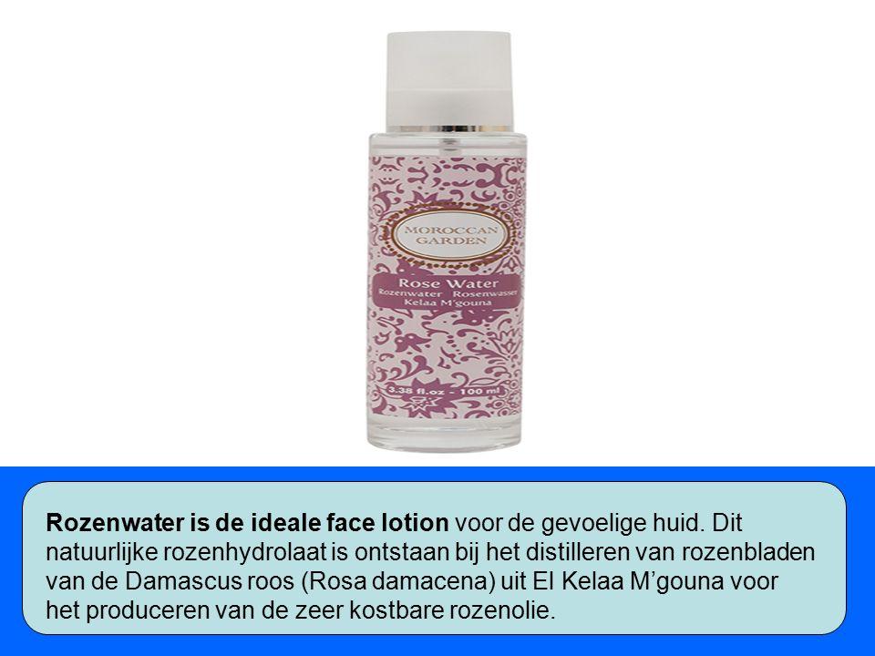 Rozenwater is de ideale face lotion voor de gevoelige huid.