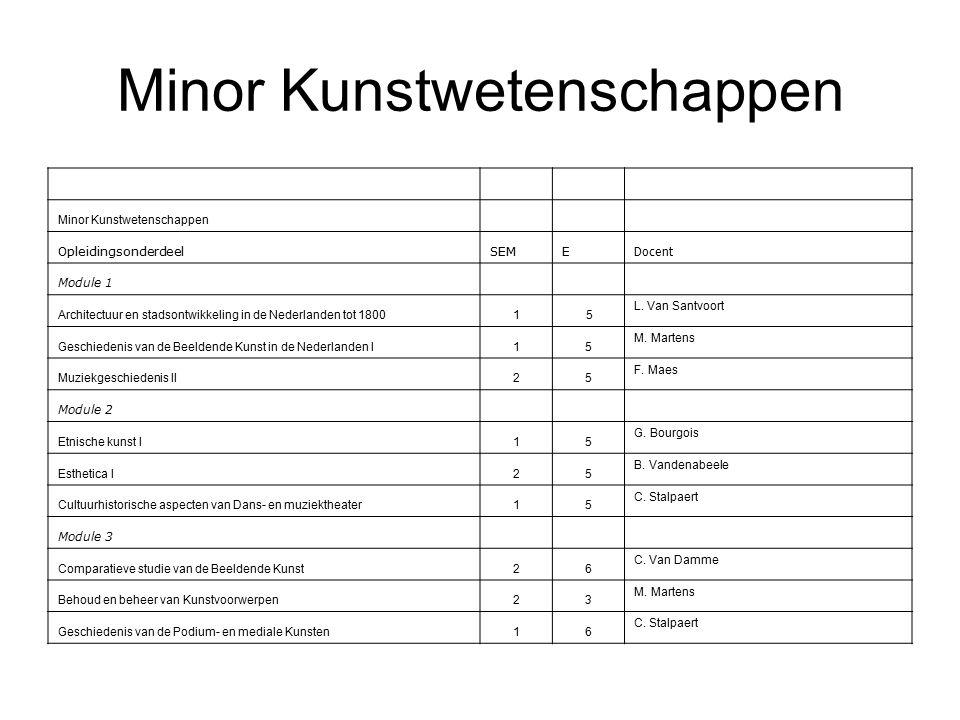 Minor Kunstwetenschappen OpleidingsonderdeelSEME Docent Module 1 Architectuur en stadsontwikkeling in de Nederlanden tot 18001 5 L.