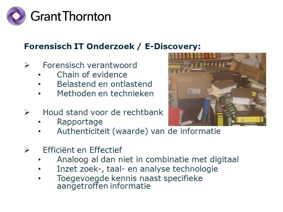 Agenda Kort voorstelrondje / doel van vandaag Wat verstaan we onder Forensic IT / E-Discovery Hoe kan het dat we verwijderde gegevens terug kunnen halen Praktijkvoorbeelden Forensic Readiness Do's en Dont's Wat verder ter tafel komt