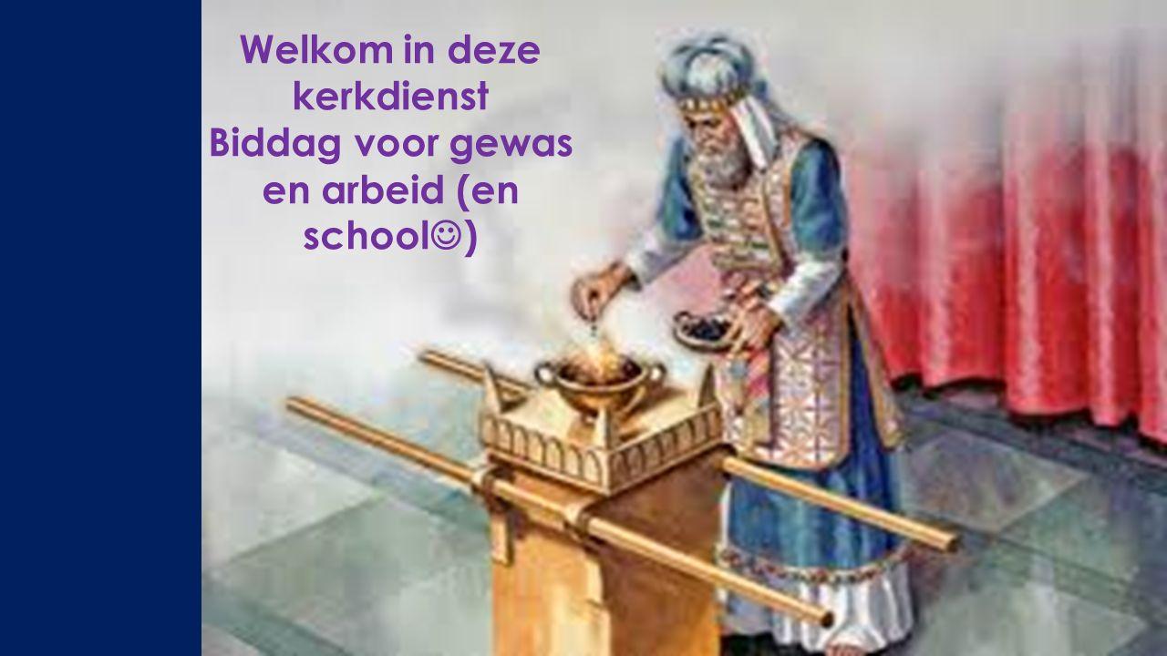 Welkom in deze kerkdienst Biddag voor gewas en arbeid (en school )