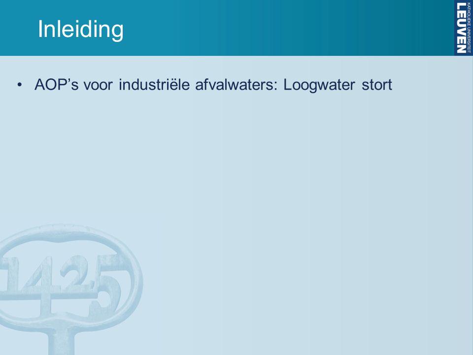 Inleiding AOP's voor industriële afvalwaters: Loogwater stort