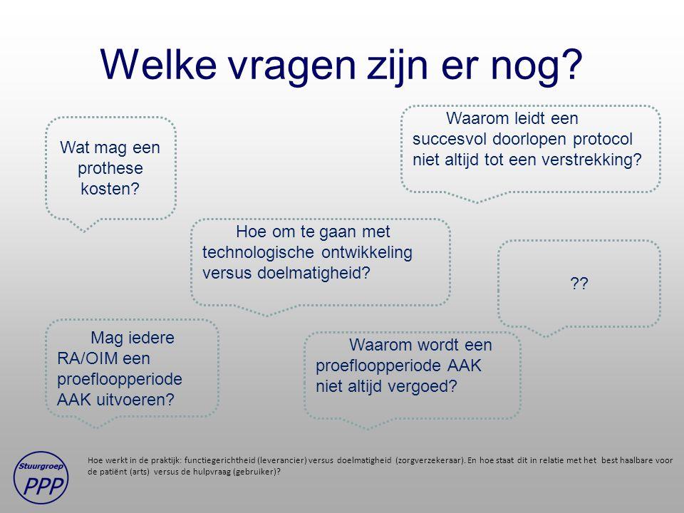 Welke vragen zijn er nog? Hoe werkt in de praktijk: functiegerichtheid (leverancier) versus doelmatigheid (zorgverzekeraar). En hoe staat dit in relat