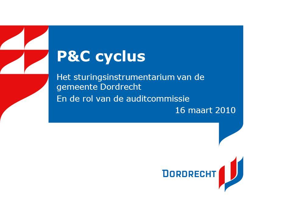 P&C cyclus Het sturingsinstrumentarium van de gemeente Dordrecht En de rol van de auditcommissie 16 maart 2010