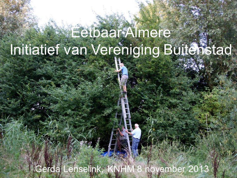 Eetbaar Almere Initiatief van Vereniging Buitenstad Gerda Lenselink, KNHM 8 november 2013