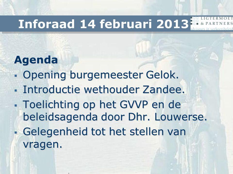 Agenda  Opening burgemeester Gelok. Introductie wethouder Zandee.