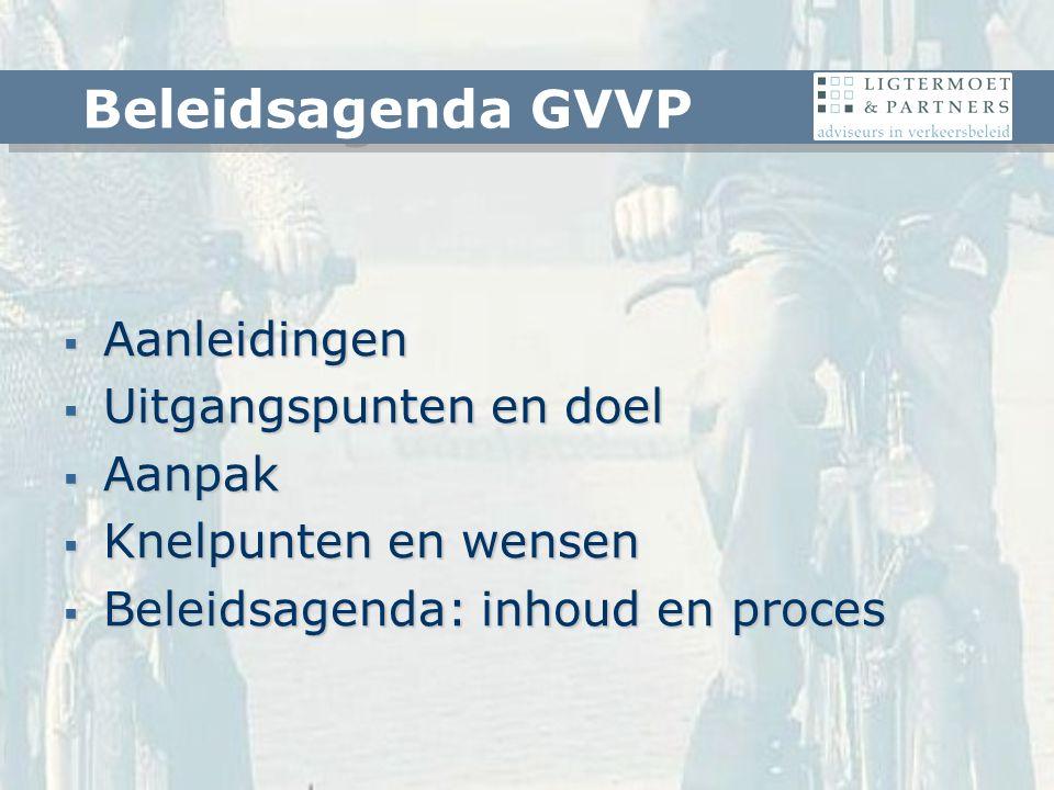  GVVP is van 1995  Nieuwe provinciale kaders  Nu is een goed moment Aanleidingen