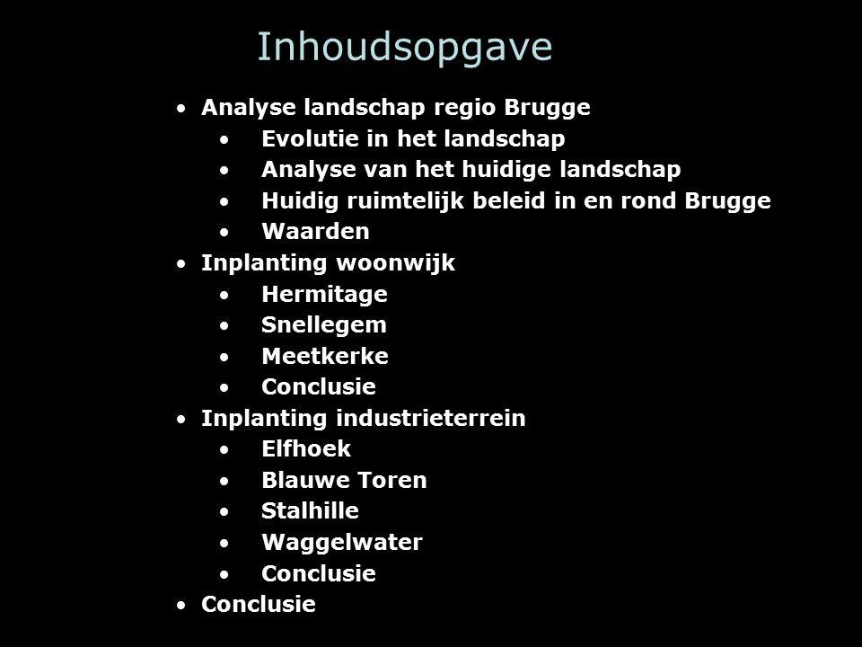 Huidig ruimtelijk beleid in en rond Brugge