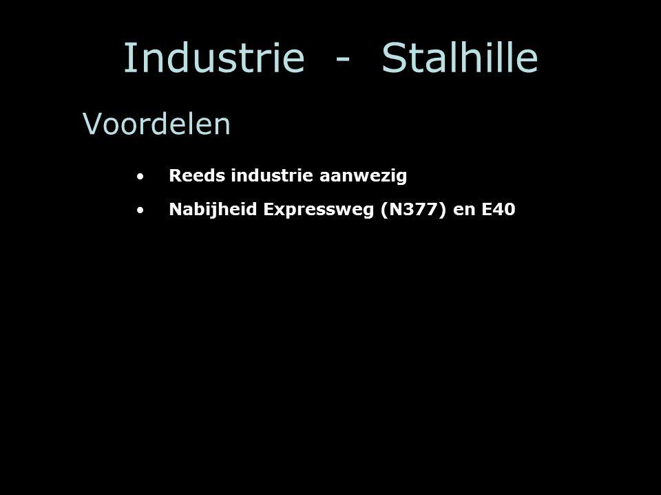 Industrie - Stalhille Reeds industrie aanwezig Nabijheid Expressweg (N377) en E40 Voordelen