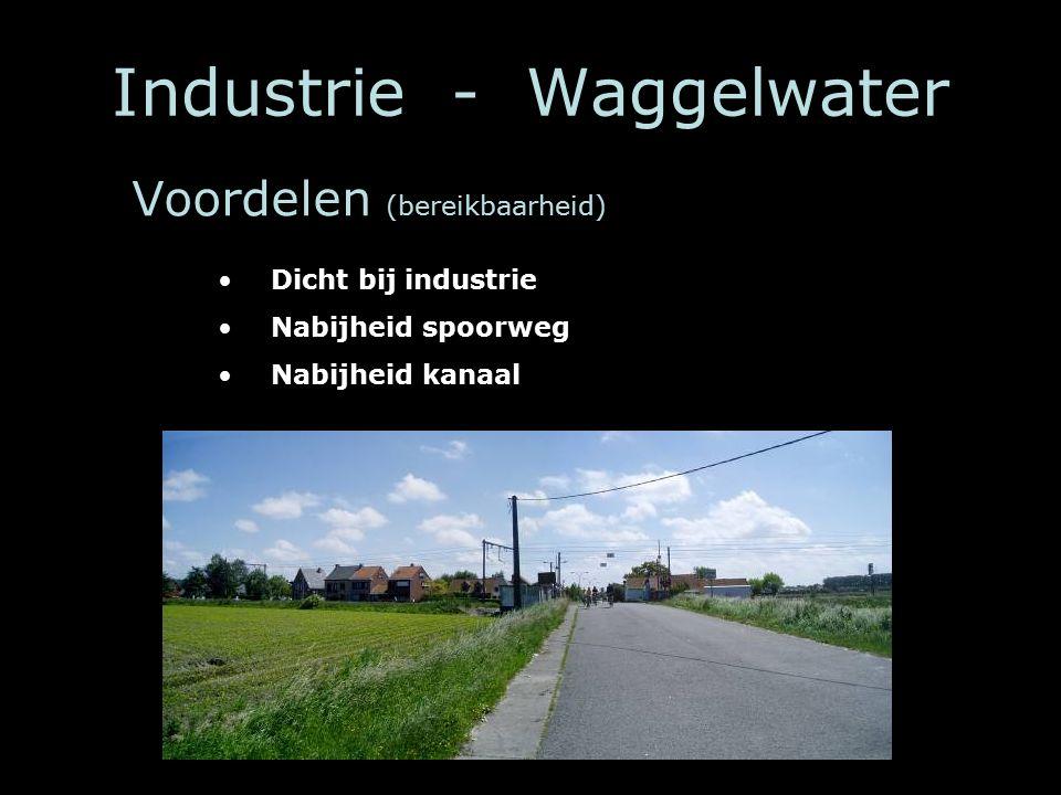 Industrie - Waggelwater Dicht bij industrie Nabijheid spoorweg Nabijheid kanaal Voordelen (bereikbaarheid)