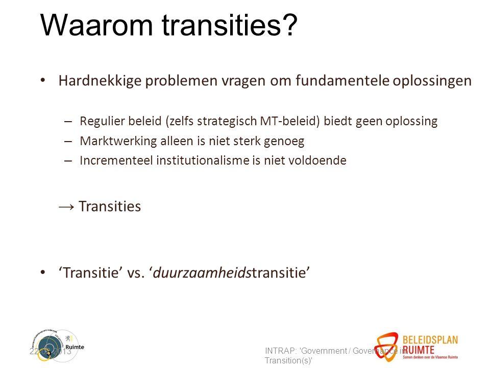 Waarom transities.