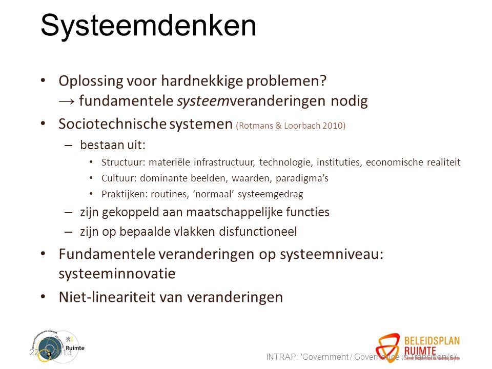 Systeemdenken Oplossing voor hardnekkige problemen.